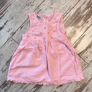 Pink and white picnic cloth dress